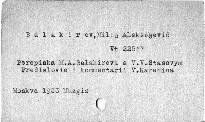 Perepiska M. A. Balakireva s V. V. Stasovym