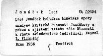 Leoš Janáček kritikem brněnské opery