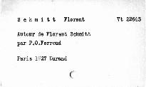Autour de Florent Schmitt