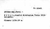 K životopisu Pavla Křížkovského