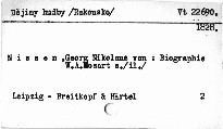 Anhang zu Wolfgang Amadeus Mozart's Biographie