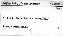 5 let Opery Studio v Praze