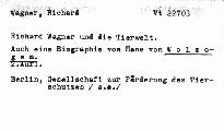 Richard Wagner und die Tierwelt