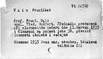 Prof. Frant. Waic