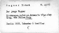 Der junge Wagner