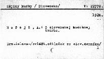 O slovenskej hudobnej tvorbe