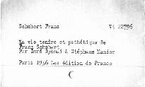 La vie tendre et pathétique de Franz Schubert