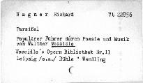 Wagner Richard: Parsifal