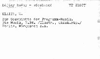 Zur Geschichte der Programmusik