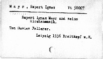 Rupert Ignaz Mayr /1646-1712/ und seine Kirchenmusik