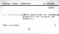 Erstlingsdrucke der deutschen Tonmeister der Klassik und Romantik