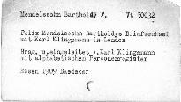 Felix Mendelssohn-Bartholdys Briefweschel