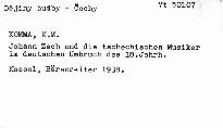 Johann Zach und die tschechischen Musiker im deutschen Umbruch des 18. Jahrhunderts