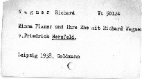 Minna Planer und ihre Ehe mit Richard Wagner