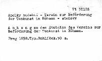 Anhang zu den Statuten des Vereins zur Beförderung der Tonkunst in Böhmen