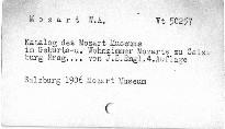 Katalog des Mozart-Museums im Geburts- und Wohnzimmer Mozarts zu Salzburg