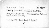 Ludwig Spohr und Friedrich Rochlitz