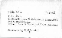 Fritz Stein
