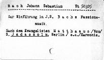 Zur Einführung in J.S. Bach's Passionsmusik nach dem Evangelisten Matthaeus
