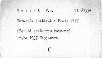 Mozartův festival v Praze 1937