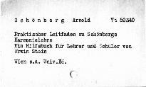 Praktischer Leitfaden zu Schönbergs Harmonielehre