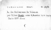 La vie douloureuse de Schumann