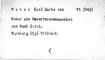 Weber als Oeverturen komponist