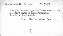 Zum 300. Geburtstage des deutsch-böhm. Musikers Andreas Hammerschmidt