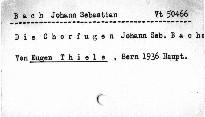 Die Chorfugen Johann Sebastian Bachs