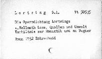 Die Operndichtung Lortzings