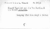 Eduard Hanslick und die Musik-Ästhetik
