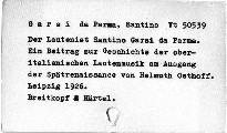Der Lautenist Santino Garsi da Parma