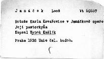 Retuše Karla Kovařovice v Janáčkově opeře Její pas