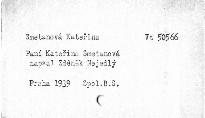 Paní Kateřina Smetanová