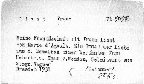 Meine Freundschaft mit Franz Liszt