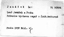 Leoš Janáček a Praha