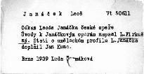 Odkaz Leoše Janáčka české opeře