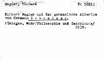 Richard Wagner und das germanische Altertum