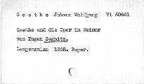 Goethe und die Oper in Weimar