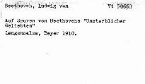 """Auf Spuren von Beethovens """"Unsterblicher Geliebten"""