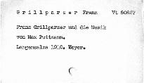 Franz Grillparzer und die Musik