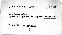 Janáček: Věc Makropulos
