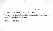 Les concerts en France sous l'ancien régime