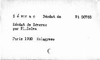 Déodat de Sérevac