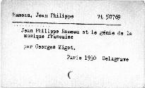 Jean-Philippe Rameau et le génie de la musique française