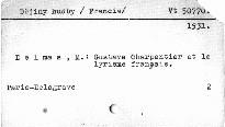 Gustave Charpentier et le lyrisme francais