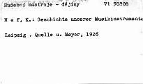 Geschichte unserer Musikinstrumente