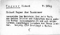 Richard Wagner über Tannhäuser