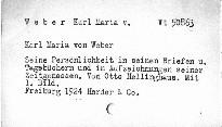 Karl Maria von Weber