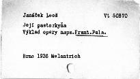 Janáček: Její pastorkyňa